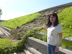 堤防邊坡坍塌 居民:宛如小土石流
