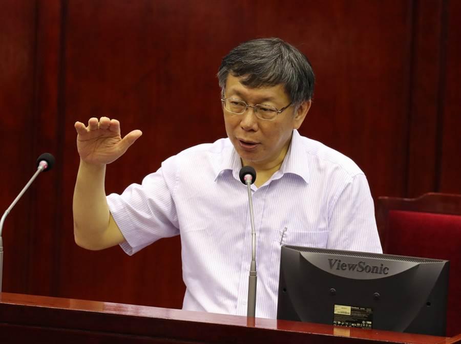 台北市長柯文哲(圖)。(中央社)