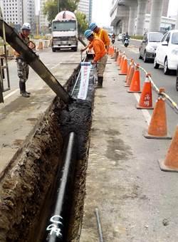 中市文心路平工程將完工 古董級水管一併汰換