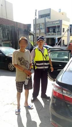攔查未戴安全帽抓到賊 警方找回媽媽買菜車