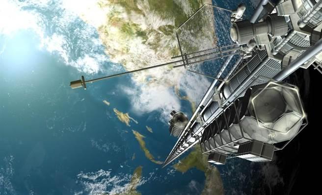 科幻作品中常引入太空電梯的概念,日本將要著手實驗可行性。(圖/網路)