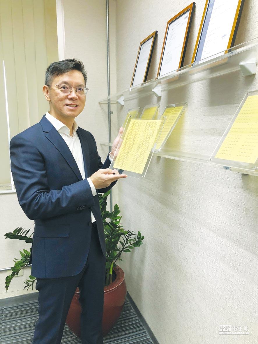 璩澤中強調,大陸晶片卡IC載板循環市場成長空間大。圖/業者提供