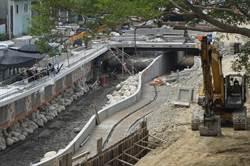 葫蘆墩圳掀蓋工程進度近8成 力拚9月底完工