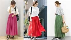 跟著日本女生創造夏天的印象感!品味即刻出眾靠的就是棉麻色裙
