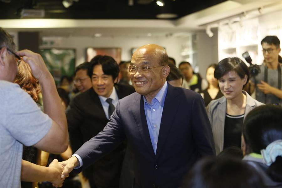 行政院長賴清德、民進黨新北市長候選人蘇貞昌到場力挺