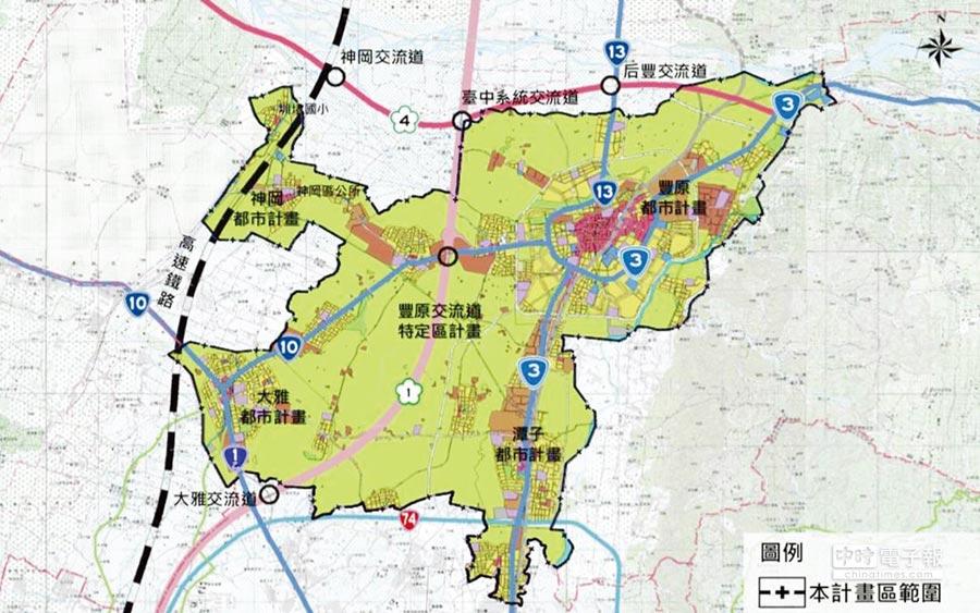 豐原、潭子、神岡及大雅都市計畫整併案,日前已通過台中市都市計畫委員會審議。圖/劉朱松