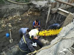 台中梧棲工安意外 土石活埋工人1死1重傷