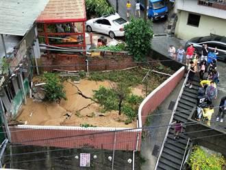 豪雨重創基隆!新西街驚傳地層下陷
