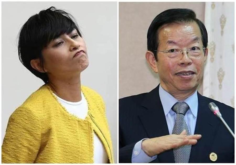 民進黨立委邱議瑩(左圖)、駐日代表謝長廷(右圖)。(本報系資料照片)