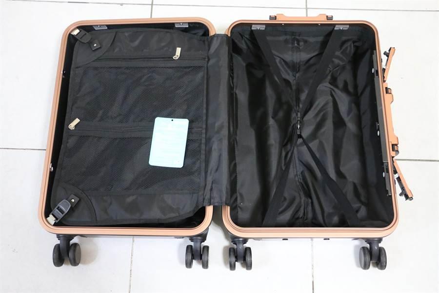華碩ROG Phone全配加贈的行李箱開啟後(空箱狀態)。(圖/黃慧雯攝)