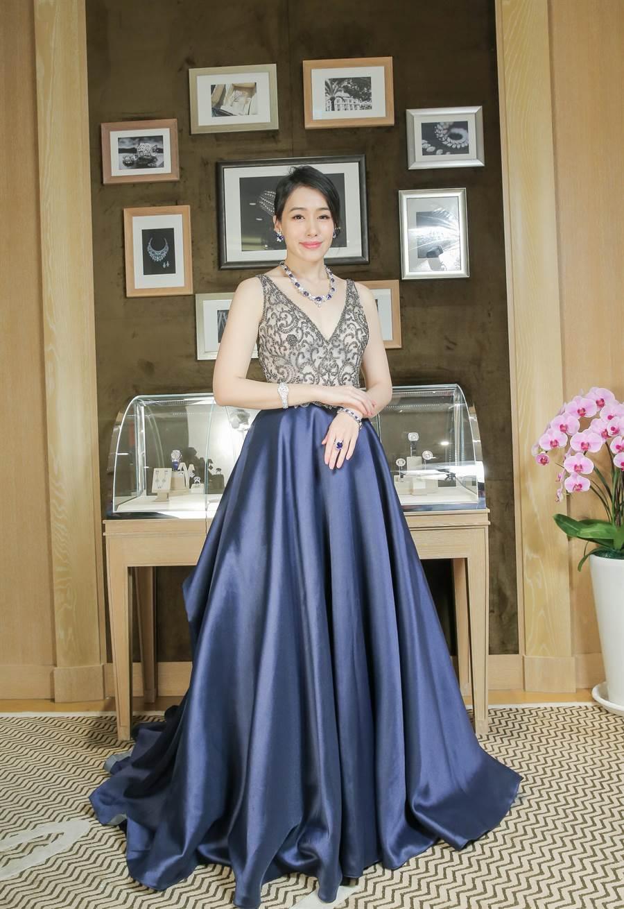 陳妍嵐愛藍寶石,是因為黛妃的訂婚戒就是一只藍寶石戒指。(盧禕祺攝)