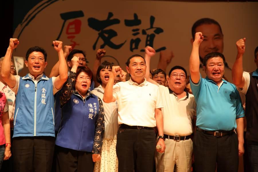 侯友宜今晚至三重综合体育馆参加旅新北同乡会后援大会。(高彦哲摄)