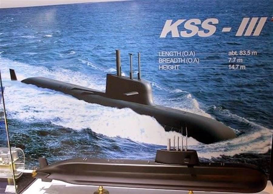 韩国3千吨潜舰,有垂直发射系统可安装陆攻巡弋飞弹,已具有战略威吓的效果。(图/大宇)