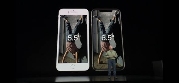 蘋果此次分別推出iPhone Xs的5.8吋,以及升級到6.5吋的iPhone Xs Max的2個版本。(