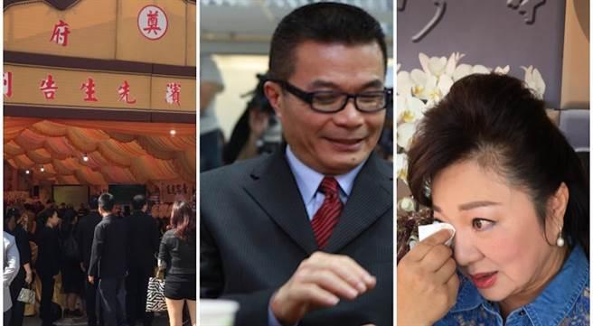 家屬今為呂燁濱舉行告別式,白冰冰哽咽落淚。(洪秀瑛林口攝)