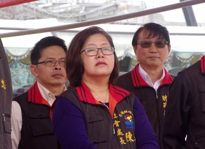 社會處長陳玟琪申請退休。(許家寧攝)
