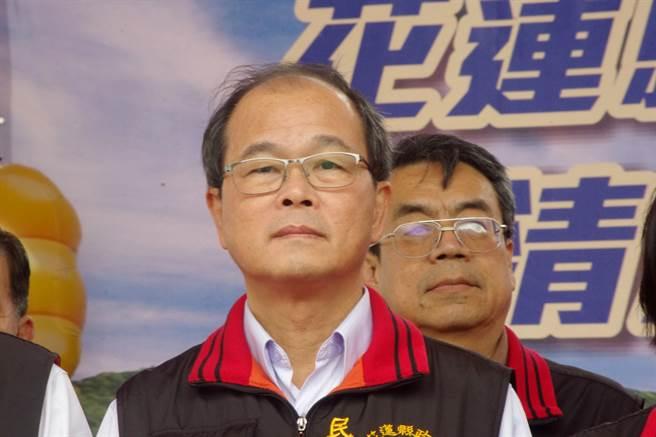 民政處長蕭明甲退職。(許家寧攝)