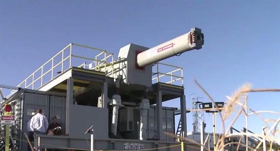 美國海軍加緊研發電磁炮,已突破關鍵技術。(圖/美國海軍研究辦公室)