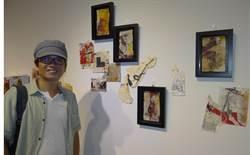 旅行藝術家謝其昌在正修科大舉辦「旅.漬──謝其昌抽象表現創作主題展」