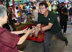 台北》姚文智拜訪松山區的虎林黃昏市場 進行掃街拜票