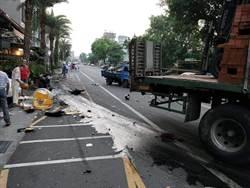 南投市重大車禍 大貨車衝撞27輛汽機車 6人送醫1重傷
