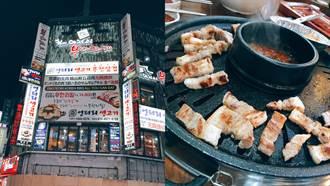 挑戰韓國明洞站最高CP值!「荒謬的生肉」2公分厚五花肉,400元韓國烤肉吃到撐