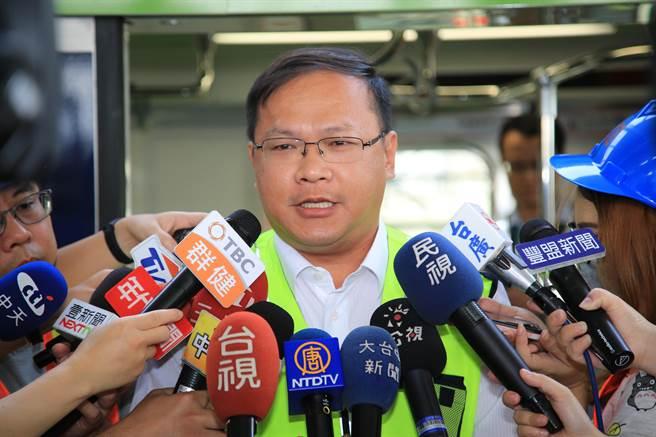 台中市府交通局長王義川表示,行政院核定後,交通局將加速辦理後續綜合規畫、環境影響評估、基本設計等發包作業。(盧金足攝)