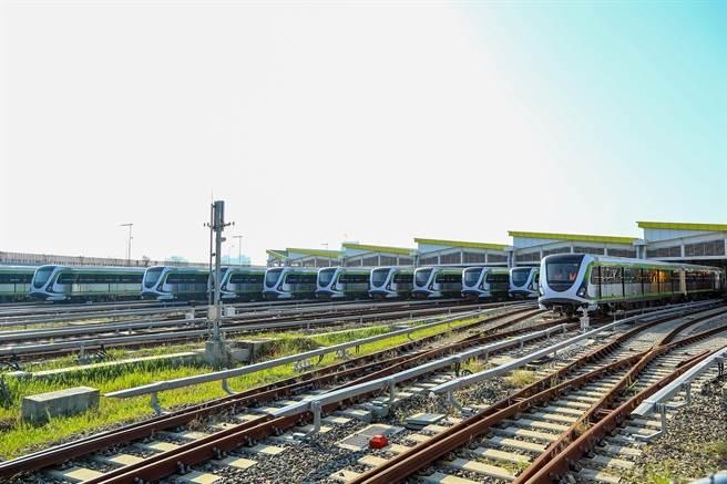 台中捷運綠線年底將展開試運轉。(盧金足翻攝)