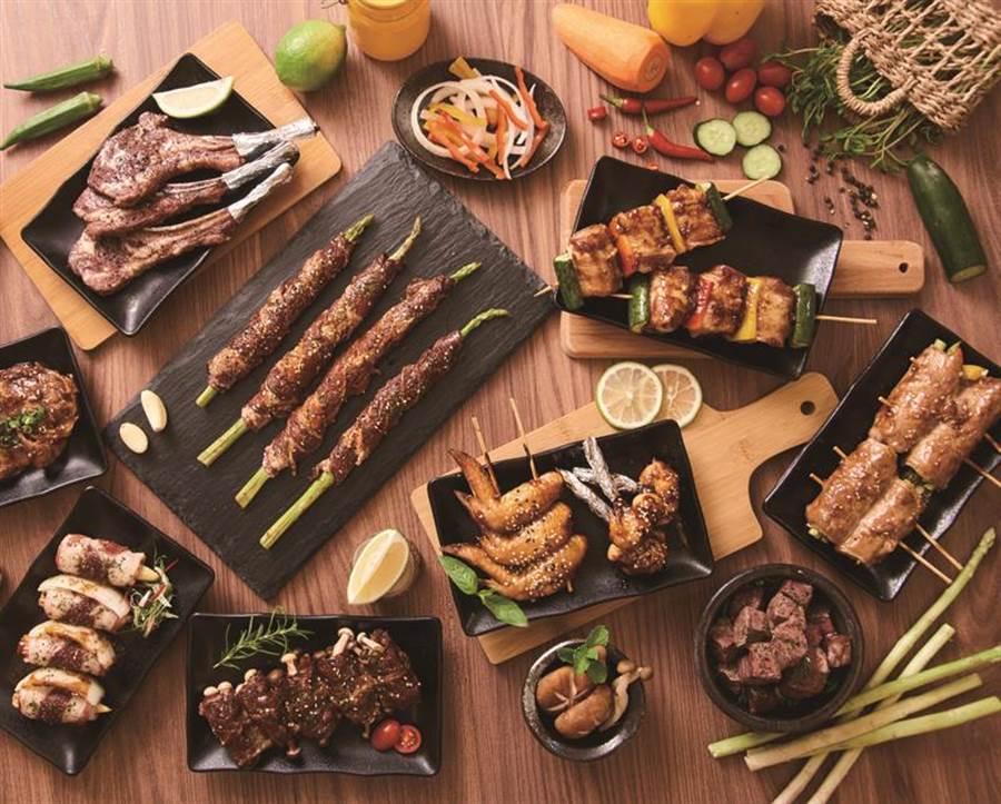 愛買中秋肉品最低69折,懶人燒烤20款免備料。(愛買提供)