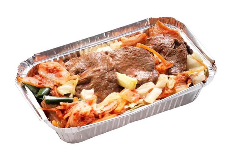 愛買新品-箔燒系列韓式豬五花肉片,25日前每盒200g、89元。(愛買提供)