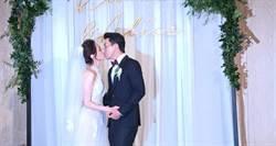 直擊/柯佳嬿披絕美婚紗 坤達甜喊「每天都在度蜜月」