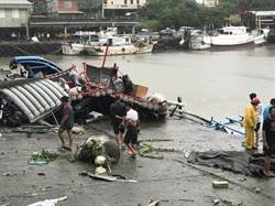 台東》強颱山竹外圍環流影響 大武沉船又出現龍捲風