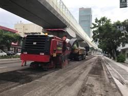中市因應汛期 文心路路平夜間及周末全天候施工