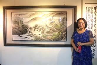 藝池藝術協會會員聯展開幕 展出91件畫作雕刻