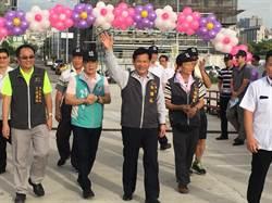 千人響應愛心!林佳龍出席西屯區健行暨慈善園遊會