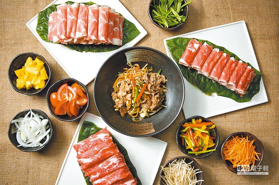 台北國賓大飯店的「月光派對」有各式海陸炭烤、蔬食。(國賓大飯店提供)