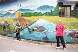 永和民富里回收物成街景藝術 彩繪打造「秀朗庄」