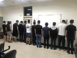清晨口角談判演變街頭鬥毆 蘆洲警火速逮22人