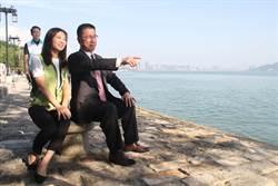 訪前瞻亮點淡水海關碼頭 徐國勇:環境很棒!