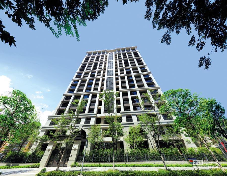 尊勝建設副都心新成屋案「白金」,以北市吉林路名宅「白金苑」等級規格打造。圖/業者提供