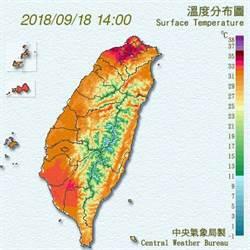 石牌測站37.4℃ 秋老虎持續到周末