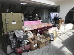憲兵203指揮部臺中憲兵隊 連破2處製毒工廠。