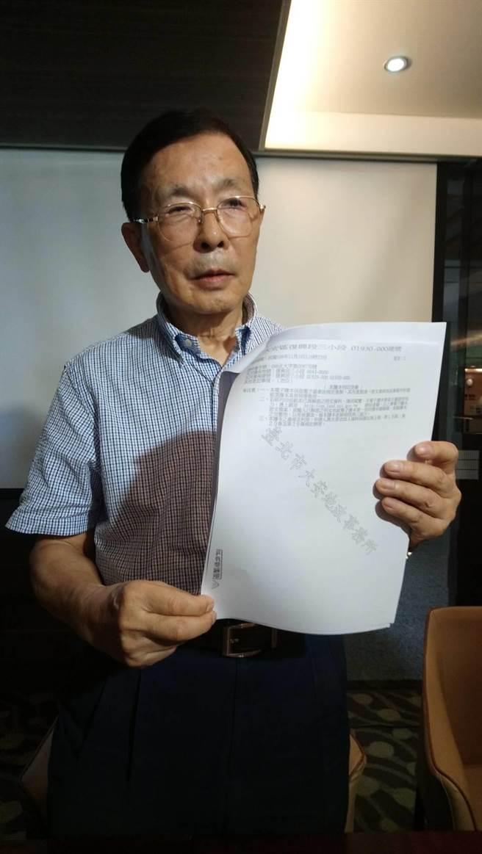 丁洋機說,他已是年近80歲的老人,希望與菲姐「好聚好散」,既然對方已提告,就靜待司法判決。(圖/曾麗芳)