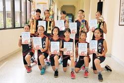 六家國小女排 橫掃5大賽冠軍