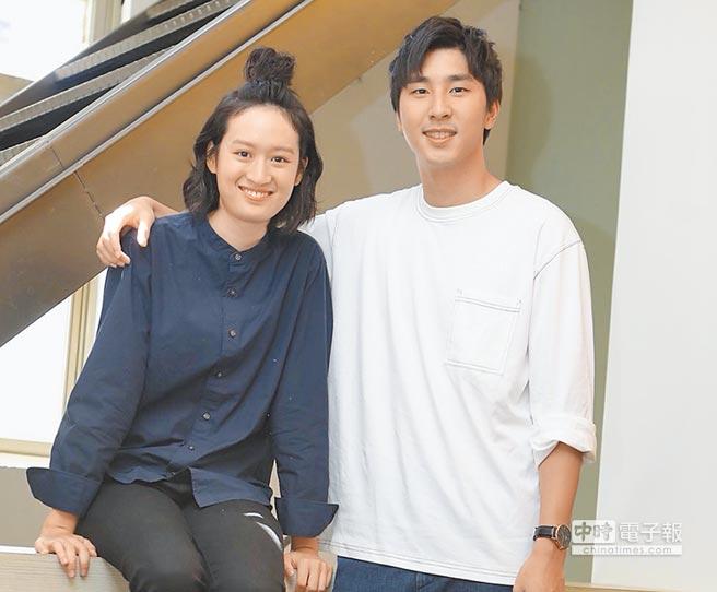 胡釋安(右)和葉慈毓昨分享拍攝公視新戲的趣事。
