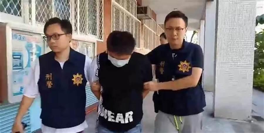 搶匪簡家賢毆打強擄女學生取財未遂,遭判8年。(譚宇哲翻攝)