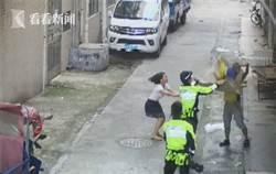 視頻|男嬰陽臺玩耍遇險 墜樓瞬間被路過外賣小哥接住