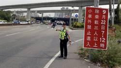 注意! 台66線、中山高平鎮交流道南下入口 中秋22~23日封閉