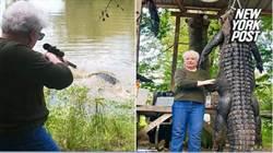 老奶奶一槍擊斃大鱷魚 製成靴子為寵物馬報仇