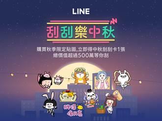 誰是幸運星 LINE推中秋刮刮樂活動獎項價值超過500萬
